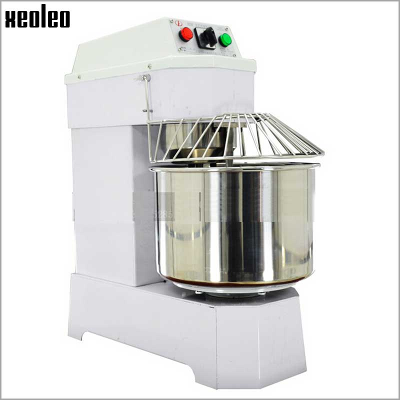 XEOLEO 20L Dough Kneading Machine Commercial Food Stand Blender Food mixer Stainless steel Spiral Bread Dough Mixer 1100W 220V Тесто