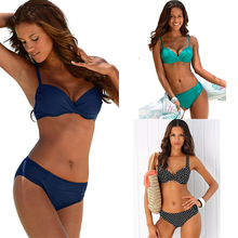 TQSKK 2019 New Arrival Sexy Bikinis Swimwear Women Swimsuit Push Up Vintage Beach Bathing Suit Summer Brazilian Biquini Set
