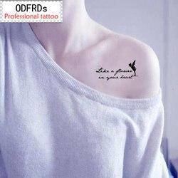 Водостойкая временная татуировка хна для татуировки поддельная Вспышка татуировки наклейки таты сказочные персонажи SYA055