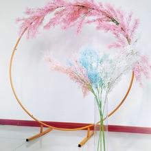 Artificial Rime Flower for Wedding Road Lead Arch Backdrop Decoration Romantic Scenery Decor Cedar Pine Stem Branch Mist Grass