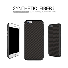 Nillkin Slim Fundas Case For Apple iPhone 6 & iPhone 6S Synthetic fiber Protective Back Cover Black Color