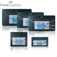 Faber Castell Water Colored Pencil 12 24 36 60 120 Colors Green Tin Box Drawing Non