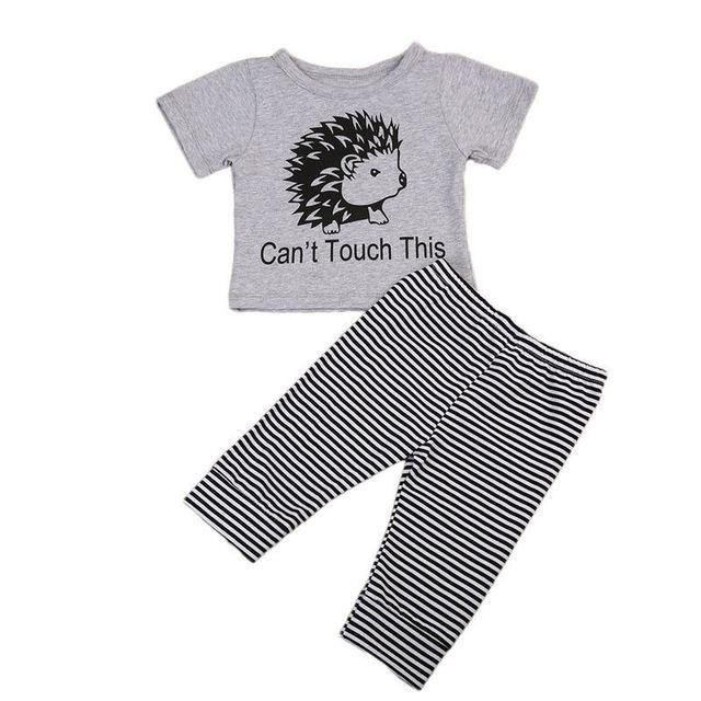 Baby Clothing 2pcs Newborn Baby Boys Girls Short Sleeve Hedgehog T
