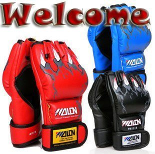 Half finger MAA fighting gloves Senior athletics glove Boxing gloves Sparring Gloves 1pcs/lot Welcome wholesale  Free Shipping