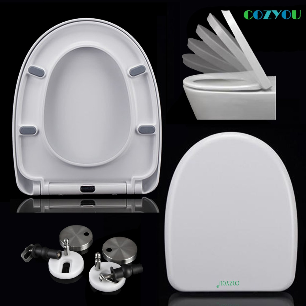 UF Toilet seat Urea formaldehyde U shape sofe close Ceramic texture Quick removal Toilet bowl lid COZYOU GBF17260SU