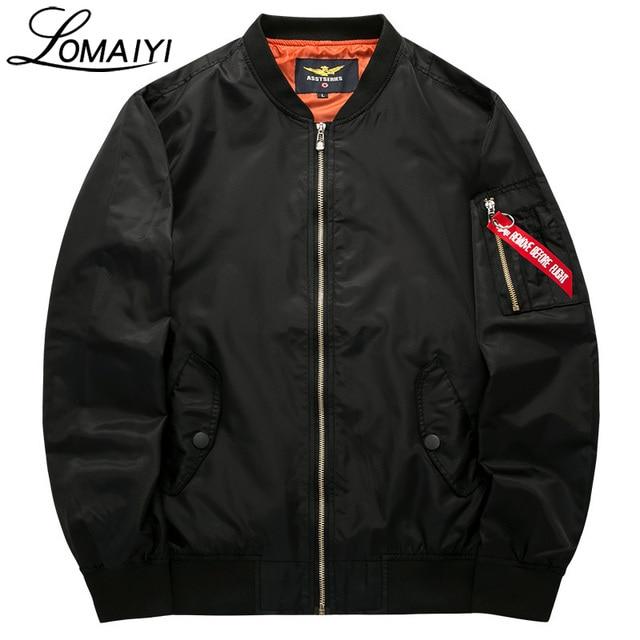LOMAIYI S-8XL Male Female Bomber Jacket Men Plus Size Coat 2019 Spring Men's Flight Windbreaker Pilot Baseball Jackets,BM002