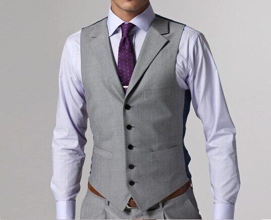 Aliexpress.com : Buy 2017 Custom Made Light Grey Men Suit Tailored ...