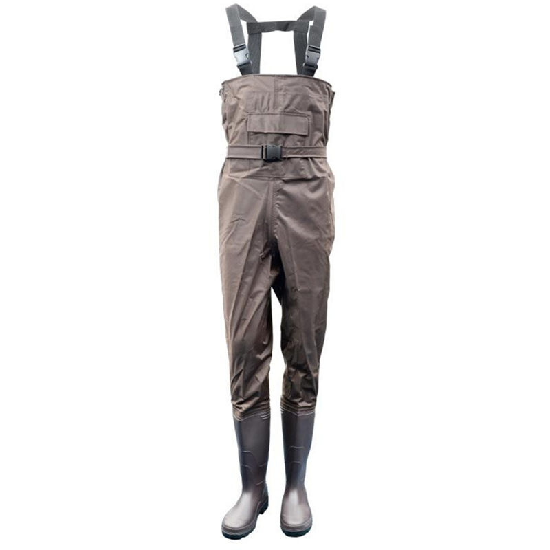 High Jump Camouflage Fishing Clothing Waterproof Nylon+PVC Fabric Breathable Waist Height and Belt+Pocket Fishing Waders Overall-in Fishing Clothings from Sports & Entertainment    1