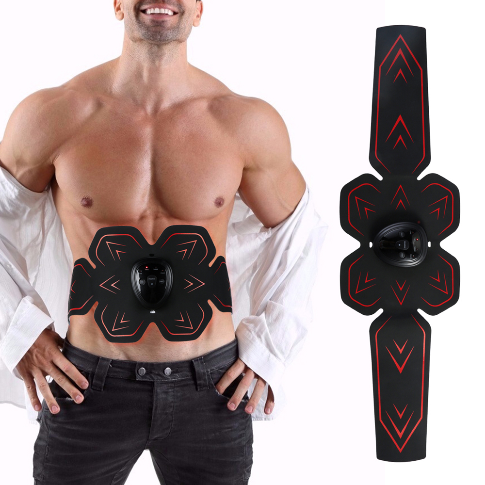 Abdominal Muscle Stimulator Trainer Massager Pad Home Gym Belly Fitness Equipment Training Muscle Stimulator Abdominal Exercise sticker
