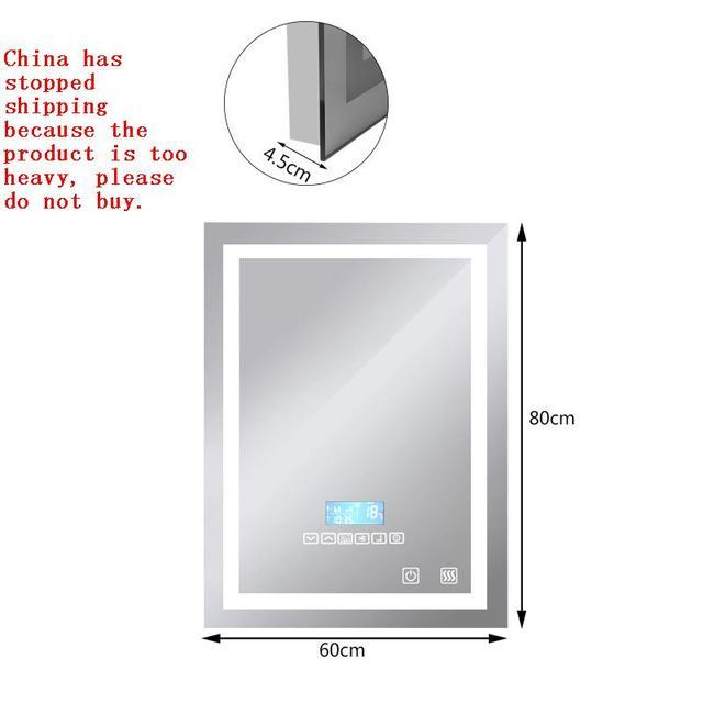 New Bluetooth Speaker Led Bathroom Mirror Wall Light Square