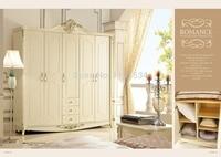 606 2 Спальня мебель пять купе высокого класса гардероб белого цвета гардероба