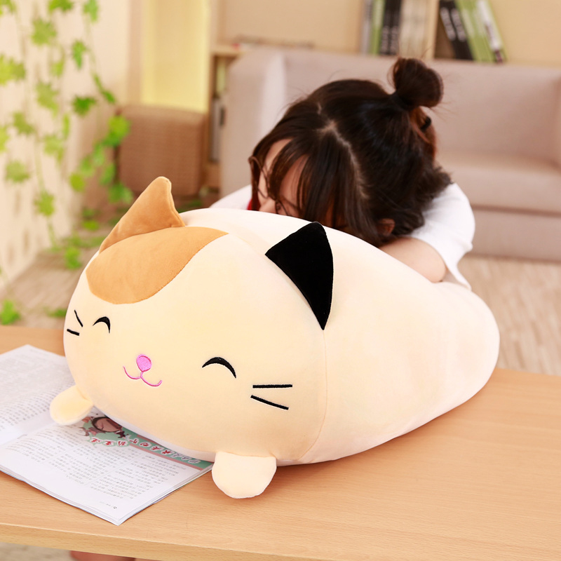 Plush-Toy Lying Frog Penguin Round-Shaped Cylindrical-Animals Sleeping-Plushie Kids Fatty-Doll title=