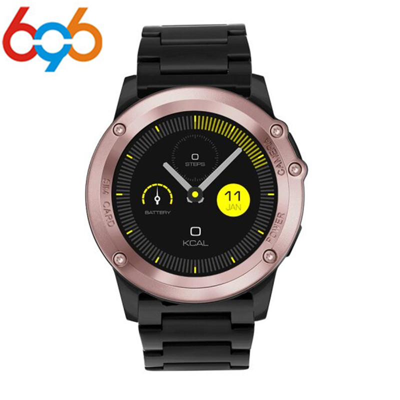696 H1 Smart Watch IP68 Waterproof 500W Camera Compass 3G GPS BT WIFI Calls 4GB+512MB Clock For Android IOS Phone smartch h1 smart watch ip68 waterproof 1 39inch 400 400 gps wifi 3g heart rate 4gb 512mb smartwatch for android ios camera 500