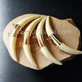 WT-P669 chifre resina pingente de Moda de Nova Pingentes crescente com alças duplas Único Chifre de Ouro pingentes para atacado
