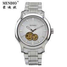 MENDIO Часы Бизнес Мужчины Марка Роскошные Водонепроницаемый Коричневый Кожаный Ремень Часы Мужчины Отец Подарок Наручные Часы С Коробкой 1003
