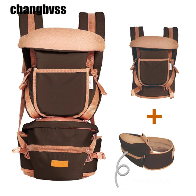 8 in 1 Ergonomic Baby Carrying Belt Backpack With Storage Bag,0-36 Months Baby Sling Hipseat For Newborn,Kangaroo Baby Wrap