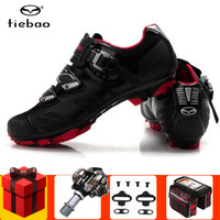 Tiebao Cycling Shoes Sapatilha Ciclismo MTB add SPD pedal set 2019 Bike Riding Self Locking Bicycle Racing Shoes superstar shoes