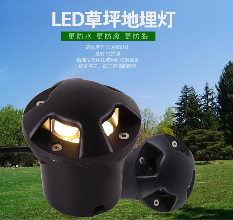 10PC 3w 4w 5w 6w 9w 12w Translucet Led Underground Lamp IP65 AC220V Buried Lighting Outdoor Recessed Floor Lamp Ground Light