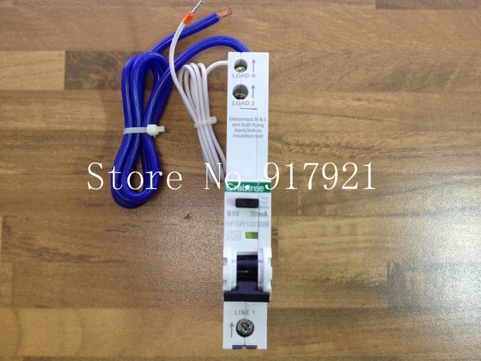 [ZOB] The German Crabtree 6FSR10/30B leakage protector compact leakage protection switch 1P10A 30MA original  --5pcs/lot