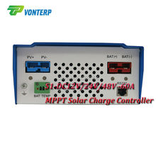 12V/24V/48V 60A  MPPT solar charge controller with LCD display and RS232 interface to communicate with computer