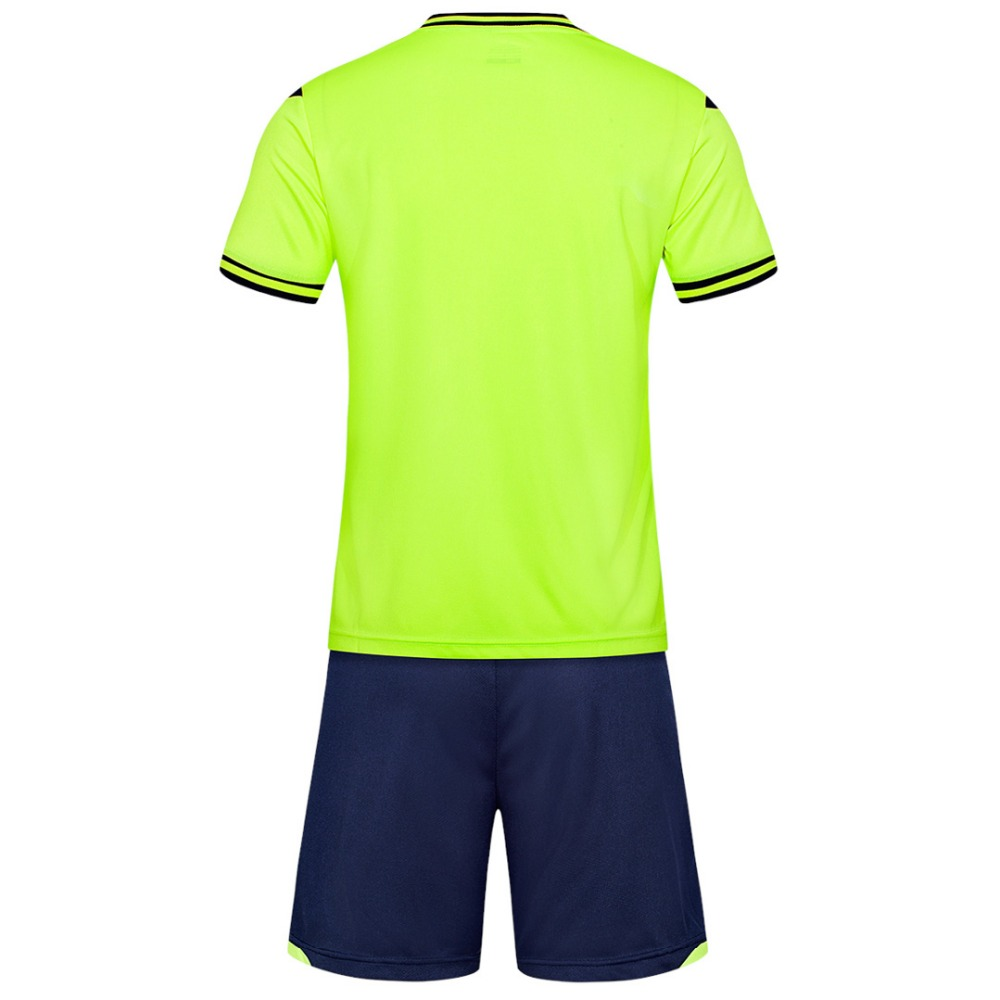 Fluorescent green Men short sleeve 2018color size tracking Purple kits jersey adult soccer football suit Football Jersey