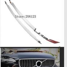 Для Volvo S90-18 ABS Хром передний Нижний Бампер Решетка Вентиляционная решетка отверстие накладка декоративные полосы автомобиля аксессуары для укладки
