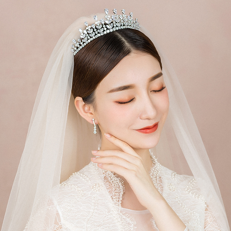 New Full AAA Clear Cubic Zirconia Sparking Brides Wedding Crown Tiaras Marquise-Cut Zircon CZ Princess Prom Coronet Hair Jewelry