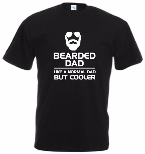 ae21ef3b Teenage Natural Casual T-Shirt Men Brand Bearded Dad Like Normal Xmas Gift  Top Slogan Beard Fathers Day casual Tee Shirt
