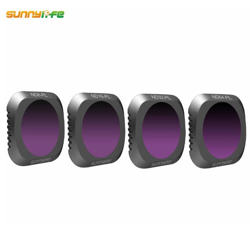 Sunnylife 4pcs/set ND8-PL ND16-PL ND32-PL ND64-PL Lens Filter for DJI MAVIC 2 PRO Drone