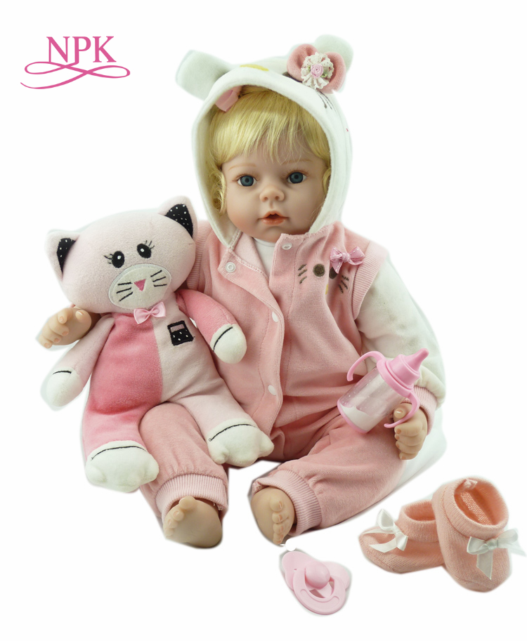 NPK Realistic soft Silicone Baby Reborn Doll girl real looking Fake Baby Toy For Kid Playmate