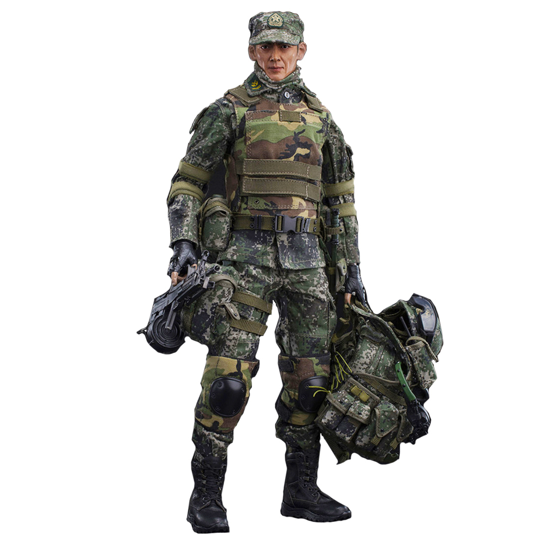 FLAGSET 1/6 Chinese armygreen Machine Fighter Soldier Model Action Figure Model Toys Hobbies For Kids Adults New Arrivel