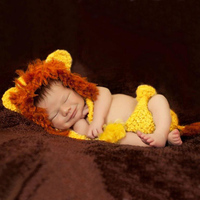 Europe Product Children Taking Pictures of Clothing Woven Knit Little Lion Newborns Photography Props