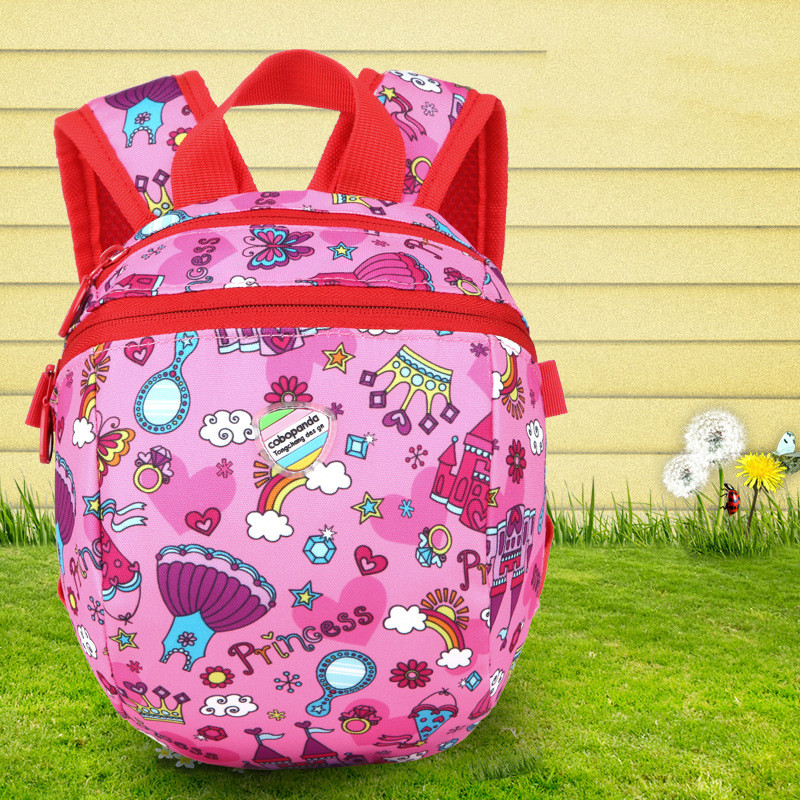 Kids Cartoon School bags For Boys/girls Waterproof cat Backpack Children Primary School bags Dream Castle rucksacks