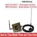Trabajo en zona mala señal GSM 900 mhz booster pantalla CIG + Auto Control De Ganancia ganancia 65dbi GSM booster, GSM repetidor w/cable de la antena