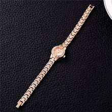 2019 New Stylish Rhinestone Jewelry Watches Rose Gold Dial A