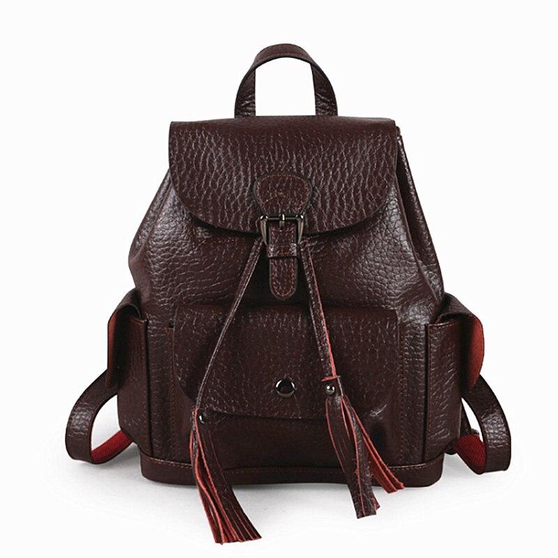pequenas senhoras de couro genuíno Fabric Texture : Genuine Leather