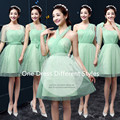 Fashion One Dress Different Styles Mint Green Bridesmaid Dresses Wedding Party Dress Cheap Bridesmaid Dresses Under 50