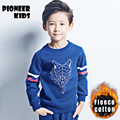 Pioneer Kids 2016 New Children Fashion Hoodies Boys Warm Add fleece upset  Sweatshirts hoodies Kids Fashion Top Clothes
