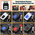 1 комплект чехол для автомобильного ключа для Honda, автомобильный брелок, 2 кнопки, клавиатура из углерода для honda CRV Civic Accord CITY Fit Pilot Crossroad
