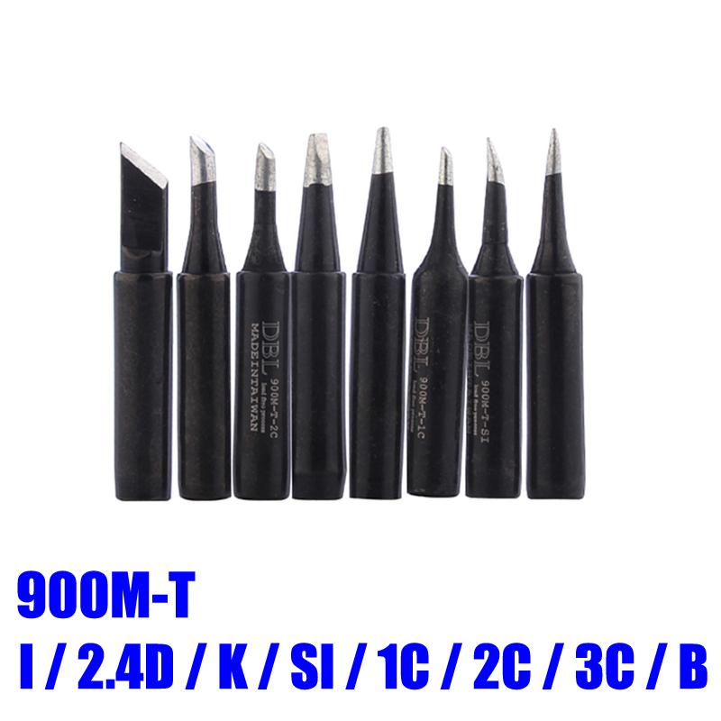 8pcs/lot Lead-free Soldering Solder Iron Tips 900M-T-I 900M-T-K 900M-T-B For 936 Soldering Station