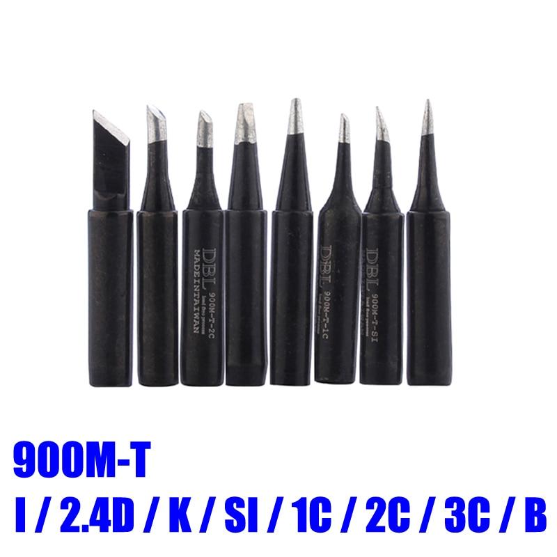 8pcs/lot Lead-free Soldering Solder Iron Tips 900M-T-I 900M-T-K 900M-T-B For 936 Soldering Station