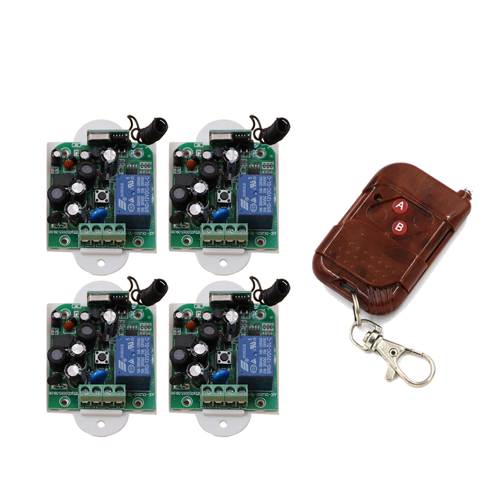 AC85V 110V 120V 220V 250V Wireless Remote Control Switch Remote Controller Remote Switch 1CH 1 CH Relay Receiver 315/433Mhz 6 pieces receiver 220v wireless remote control switch lamps water pump motor controller switch remote control switch