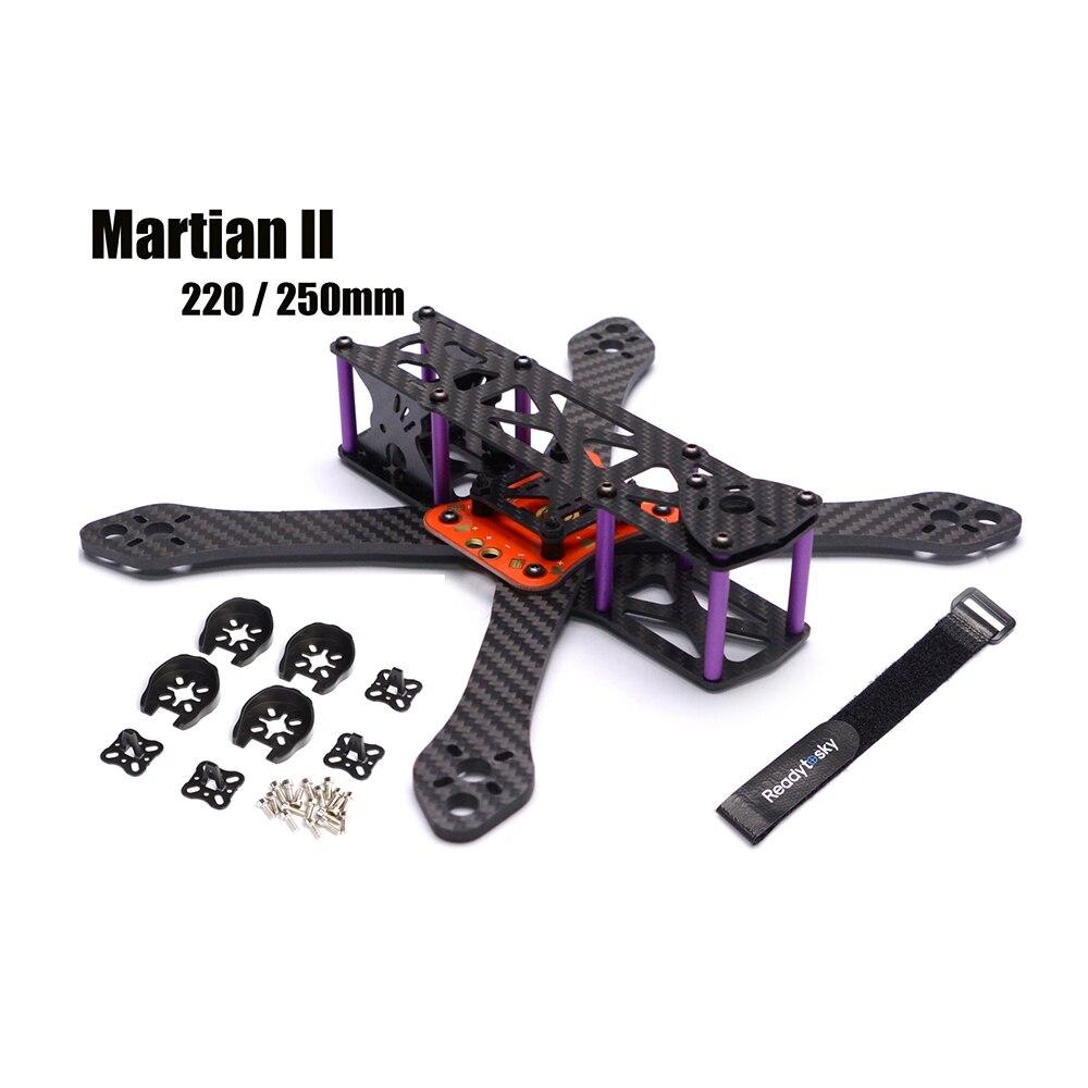 RETTILE Marziano II 2 220/250 220mm 250mm 4mm Spessore braccio In Fibra di Carbonio Kit Telaio w/PDB Per FPV corse