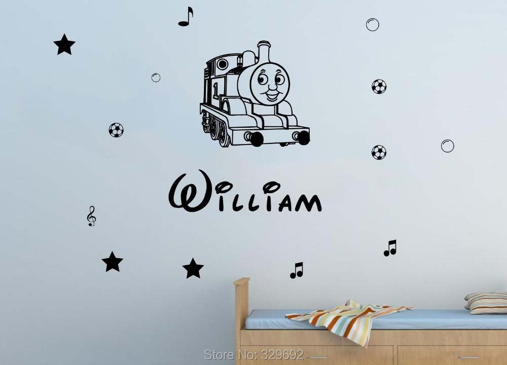 ... Free Shipping Personalised Name Thomas The Train Kids Wall Sticker  Vinyl Decal For Children Nursery Room ... Part 86