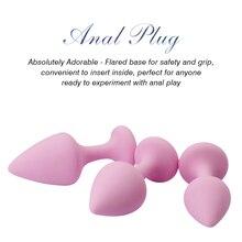 BIGBANANA 3 Pcs Silicone Anal Plug Toys Prostate Massager Dildo Adult Sex for women men couple dropshipping