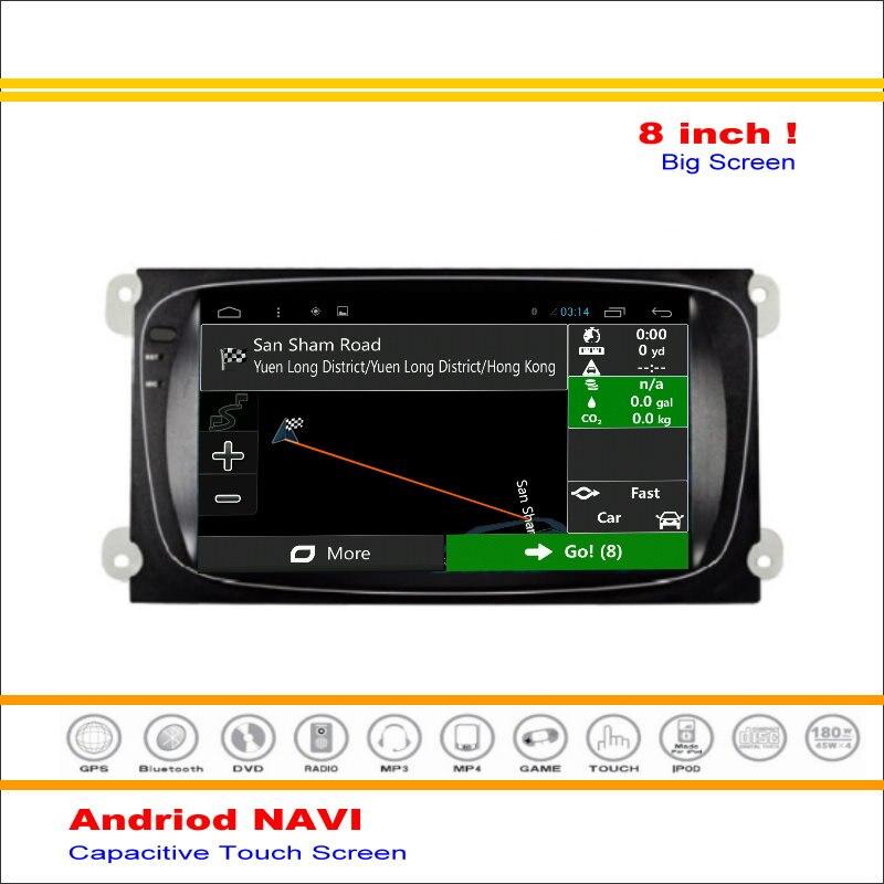 Coche Android Sistema de Navegación GPS NAVI Para Ford Focus para Mondeo 2007 ~