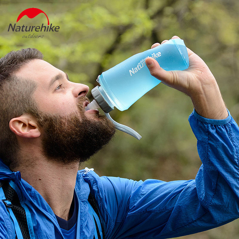 Portable Silicone Water Bag Outdoor Sport Camping Climbing Folding Water Bags 500ml 750ml Drink Kettle Cycling Travel Bottles цена