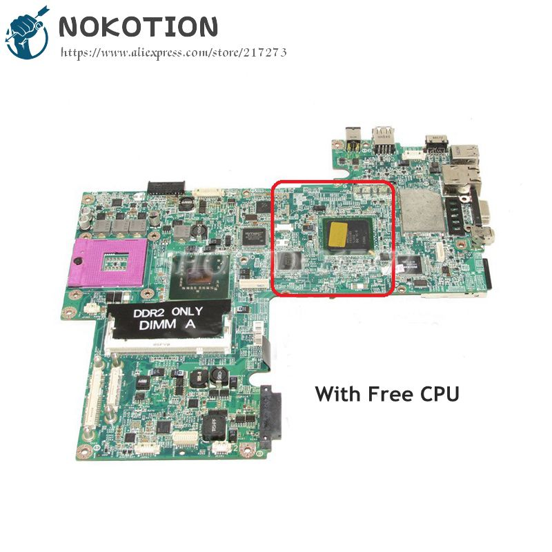 NOKOTION CN-0UK434 0UK434 MAIN BOARD For Dell Inspiron 1720 Laptop Motherboard 965GM DDR2 17 inch Free CPU cn 0ptnpf 0ptnpf ptnpf main board for dell inspiron 3421 5421 laptop motherboard 1017u cpu ddr3