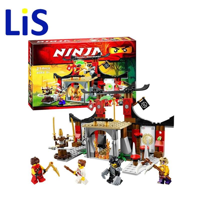 Lis 10319 Ninjago Dojo Showdown Duel Ninjutsu Driving Range Model Building Kits Assembling Children Toy 70756 Compatible Lepin