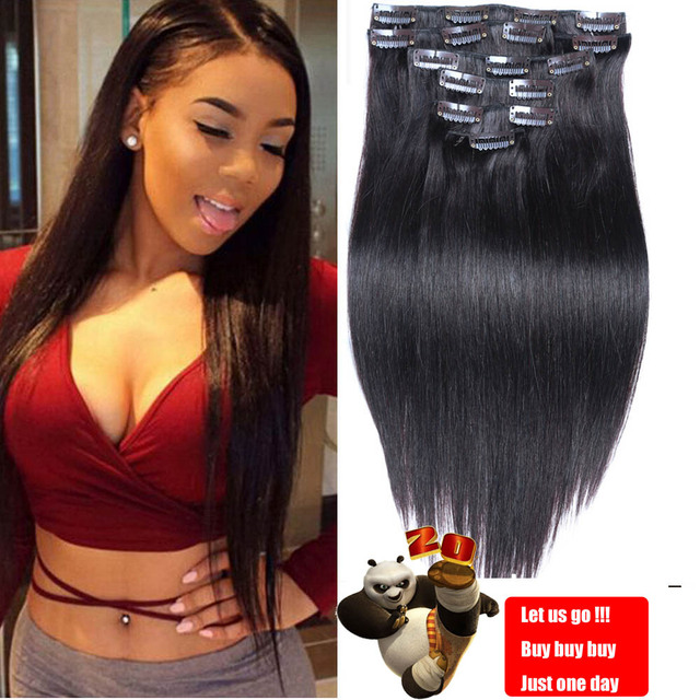 7A Luxury Brazilian Clip In Human Hair Extensions Natural Blends Hair Clip In Human Silky Straight Human Hair Clip In Extensions